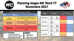 planning stage novembre